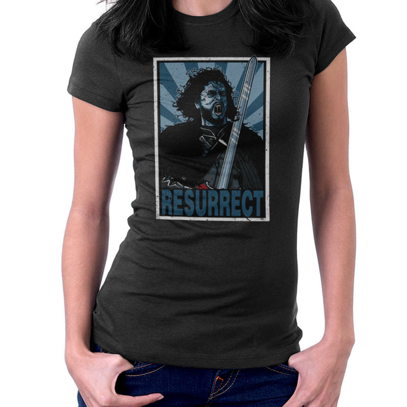 Resurrect Jon Snow Zombie Game Of Thrones Women's T-Shirt by AndreusD - Cloud City 7