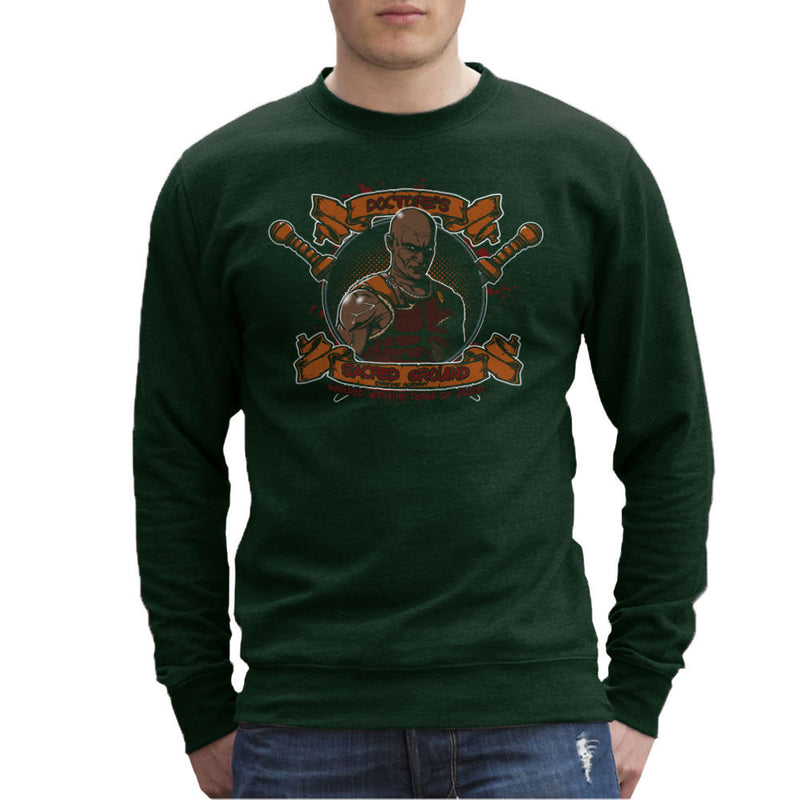 Doctores Sacred Ground Fighting Academy Spartacus Men's Sweatshirt by AndreusD - Cloud City 7