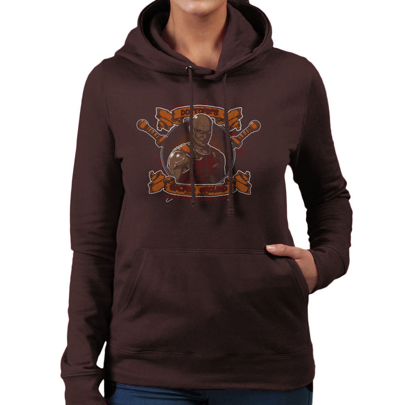 Doctores Sacred Ground Fighting Academy Spartacus Women's Hooded Sweatshirt by AndreusD - Cloud City 7