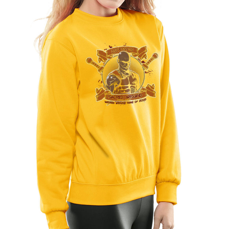 Doctores Sacred Ground Fighting Academy Spartacus Women's Sweatshirt by AndreusD - Cloud City 7