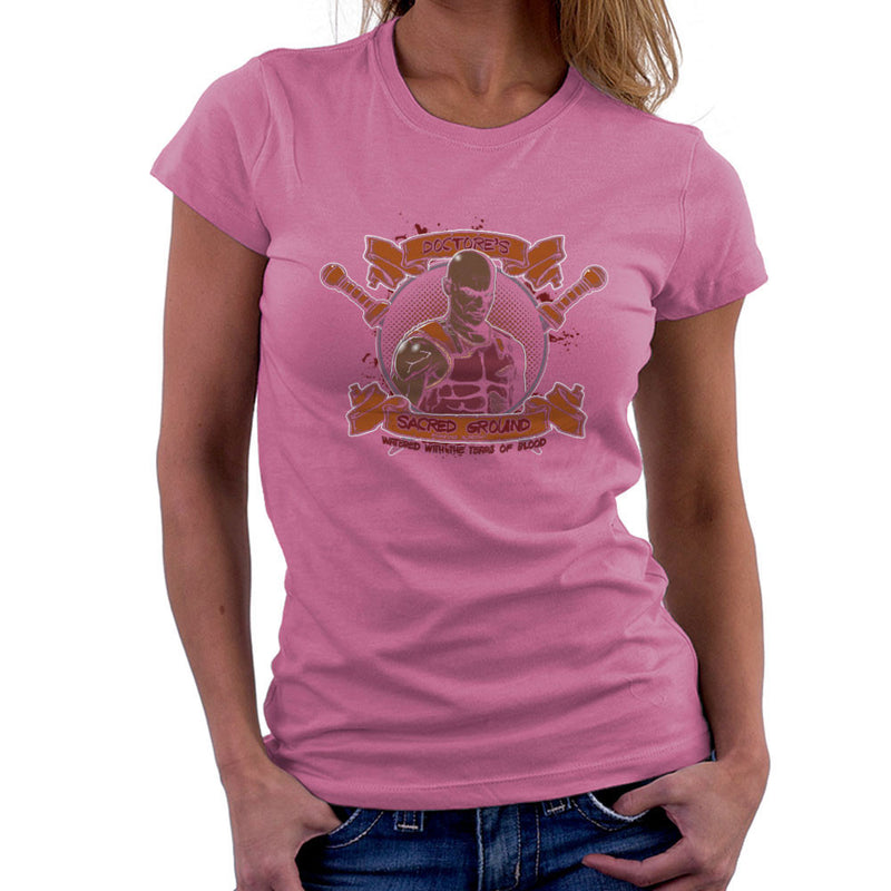 Doctores Sacred Ground Fighting Academy Spartacus Women's T-Shirt by AndreusD - Cloud City 7