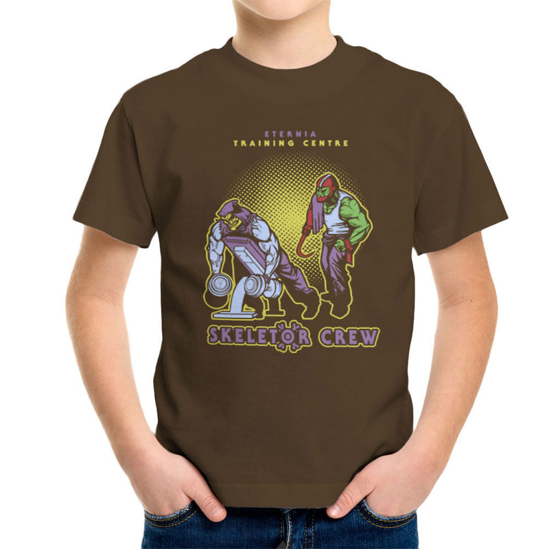 Eternia Training Centre Skeletor Crew He Man Gym Kid's T-Shirt by AndreusD - Cloud City 7