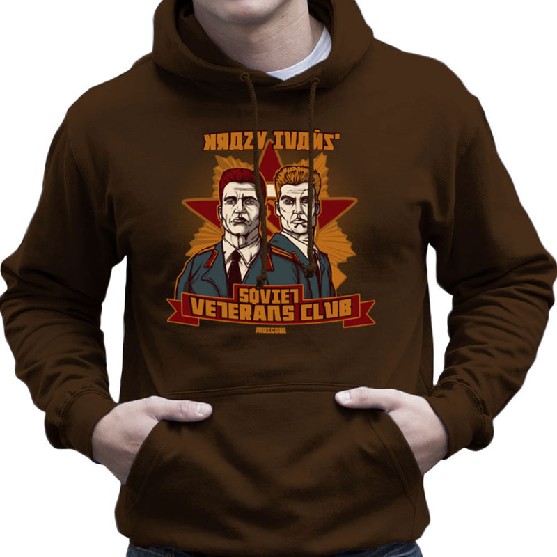 Krazy Ivans Ivan Drago Ivan Danko Dolph Lundgren Arnold Schwarzenegger Men's Hooded Sweatshirt by AndreusD - Cloud City 7