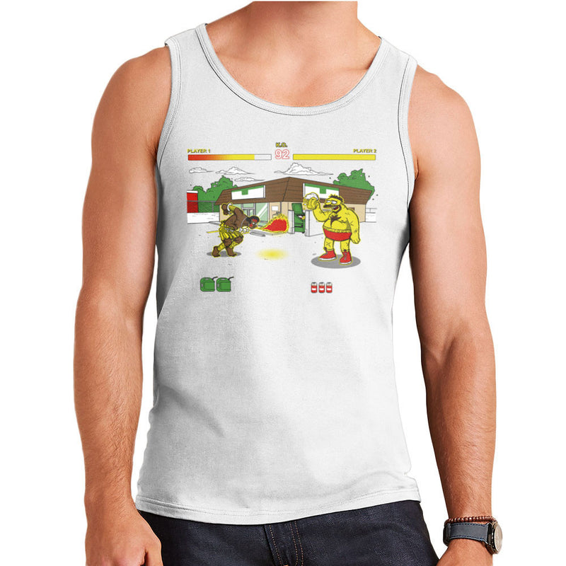 Springfield Fighter Street Fighter Simpsons Barney Zangief Apu Dhalism Men's Vest by AndreusD - Cloud City 7