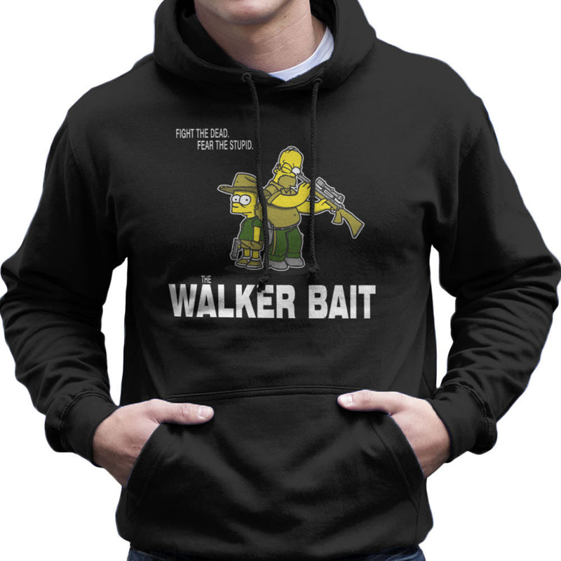 The Walker Bait Walking Dead Rick And Carl Grimes Homer And Bart Simpson Men's Hooded Sweatshirt by AndreusD - Cloud City 7