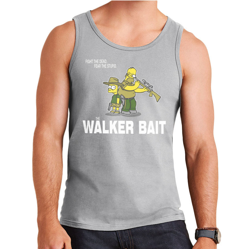 The Walker Bait Walking Dead Rick And Carl Grimes Homer And Bart Simpson Men's Vest by AndreusD - Cloud City 7