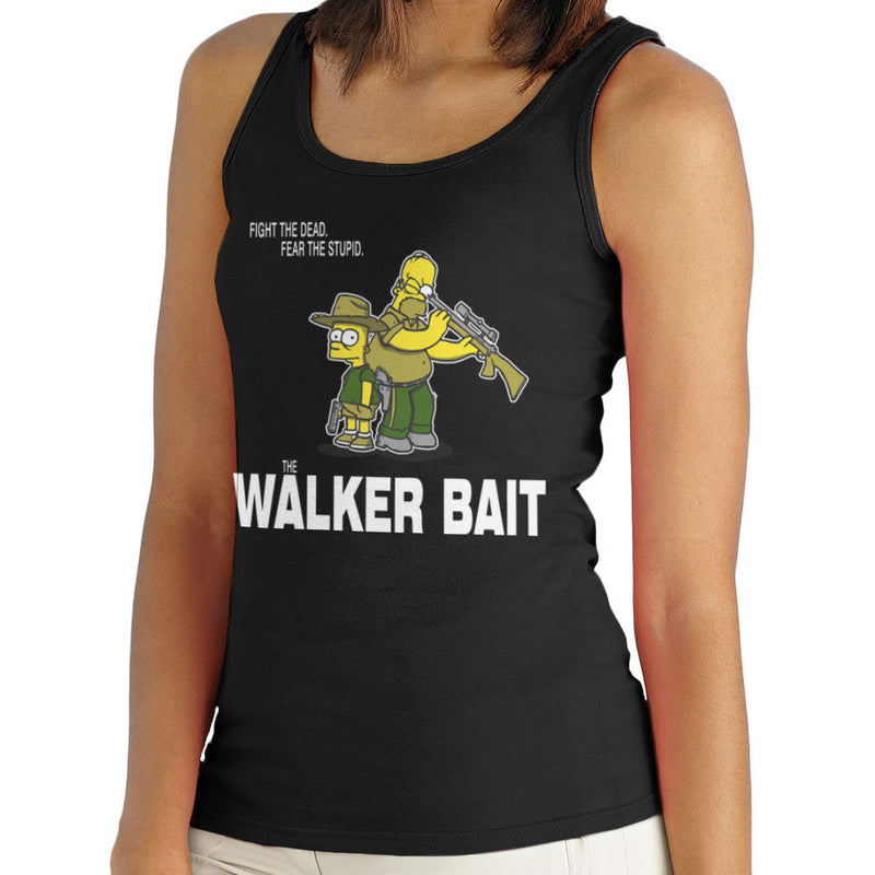 The Walker Bait Walking Dead Rick And Carl Grimes Homer And Bart Simpson Women's Vest by AndreusD - Cloud City 7