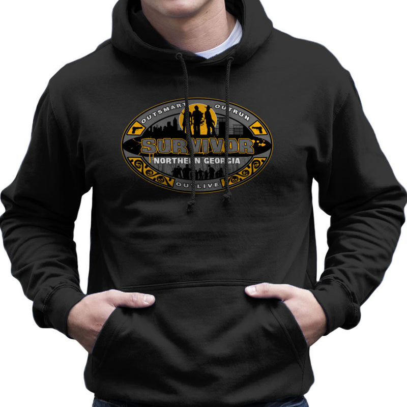 Outrun Outsmart Outlive Survivor North Georgia Walking Dead Men's Hooded Sweatshirt by AndreusD - Cloud City 7