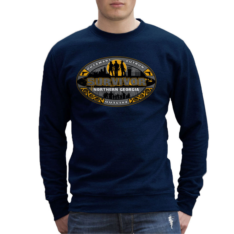 Outrun Outsmart Outlive Survivor North Georgia Walking Dead Men's Sweatshirt by AndreusD - Cloud City 7