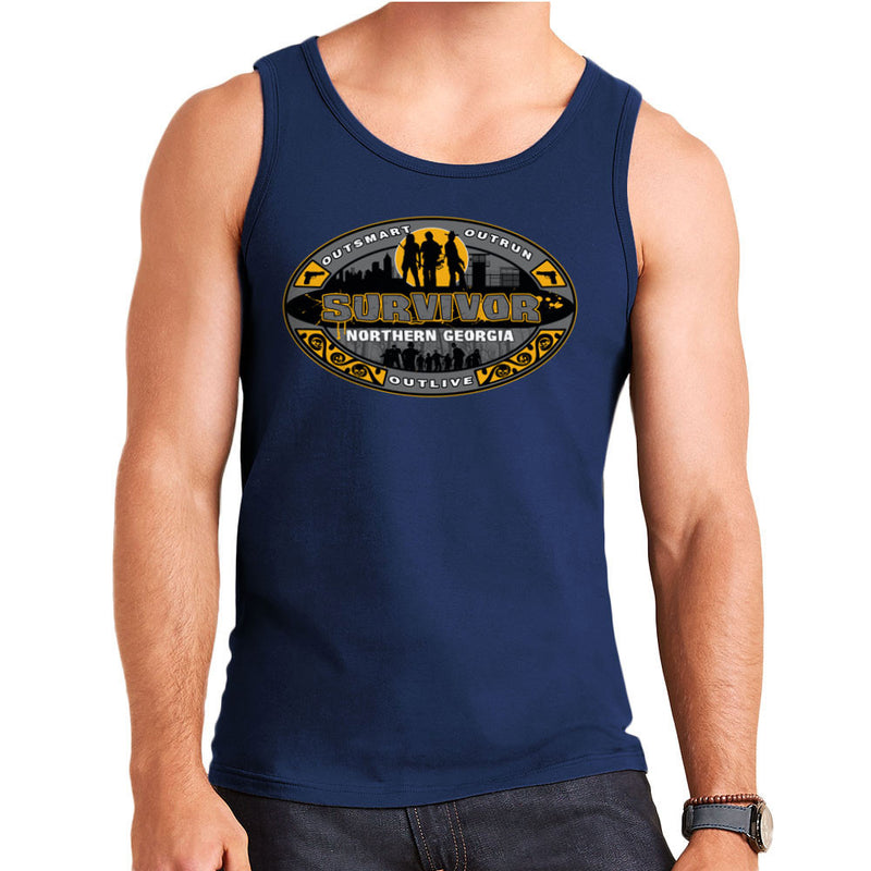 Outrun Outsmart Outlive Survivor North Georgia Walking Dead Men's Vest by AndreusD - Cloud City 7