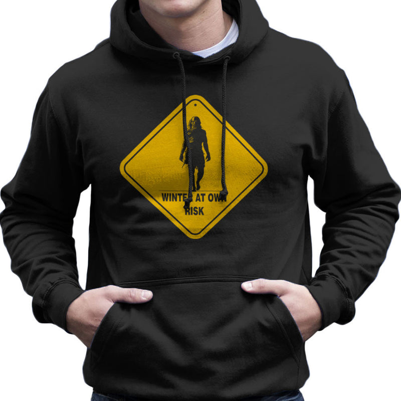 Winter At Your Own Risk White Walkers Game Of Thrones Men's Hooded Sweatshirt by AndreusD - Cloud City 7