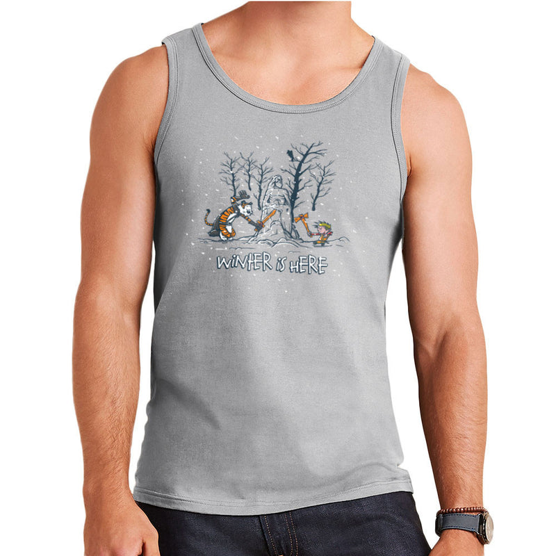 Winter Is Here Calvin And Hobbes Game Of Thrones Men's Vest by AndreusD - Cloud City 7