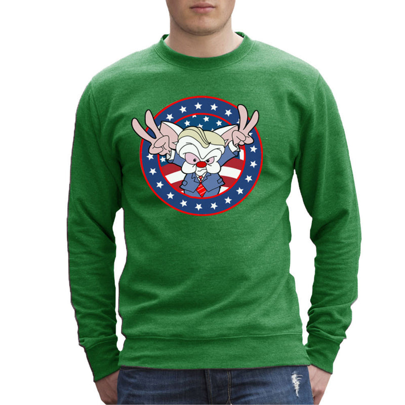 Pinky And The Brain Donald Trump Men's Sweatshirt by TopNotchy - Cloud City 7