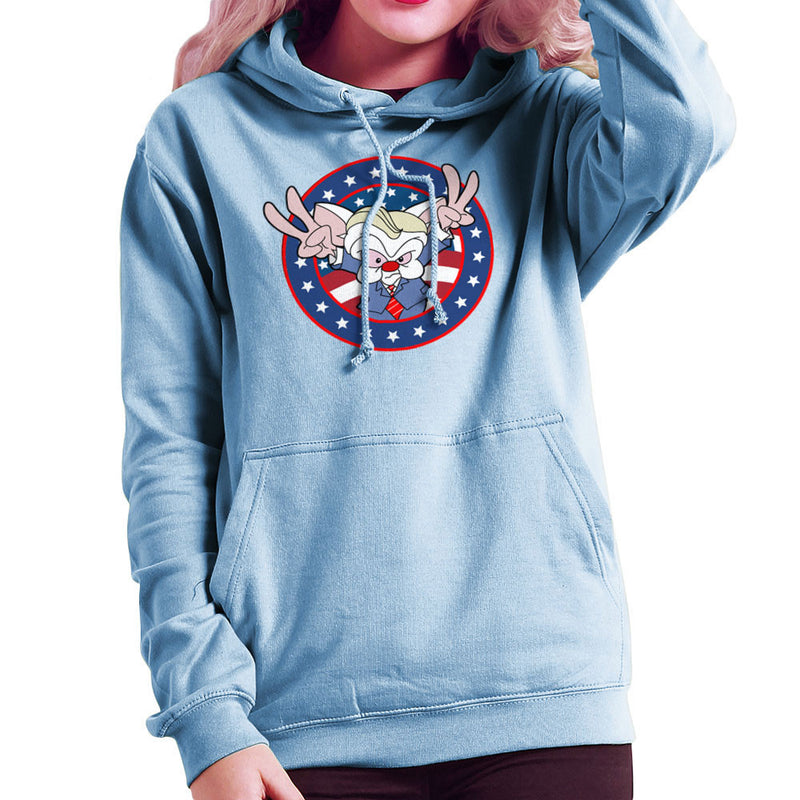 Pinky And The Brain Donald Trump Women's Hooded Sweatshirt by TopNotchy - Cloud City 7