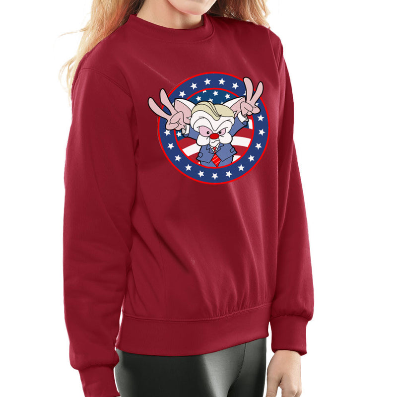 Pinky And The Brain Donald Trump Women's Sweatshirt by TopNotchy - Cloud City 7
