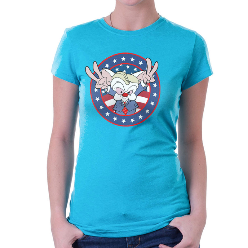 Pinky And The Brain Donald Trump Women's T-Shirt by TopNotchy - Cloud City 7