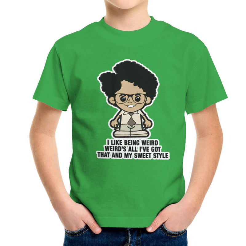 Lil Moss I Like Being Weird IT Crowd Kid's T-Shirt by TopNotchy - Cloud City 7