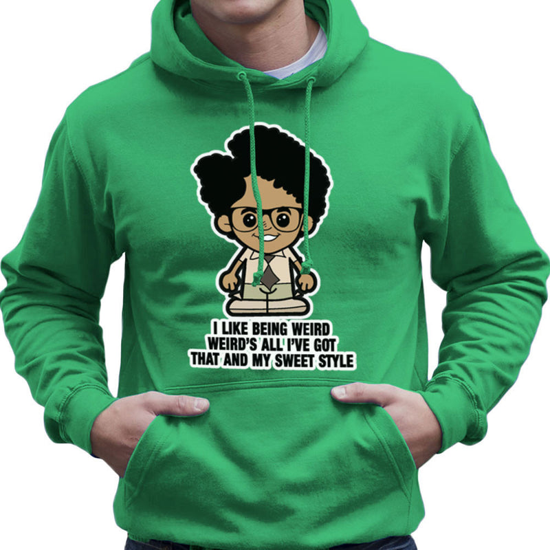 Lil Moss I Like Being Weird IT Crowd Men's Hooded Sweatshirt by TopNotchy - Cloud City 7