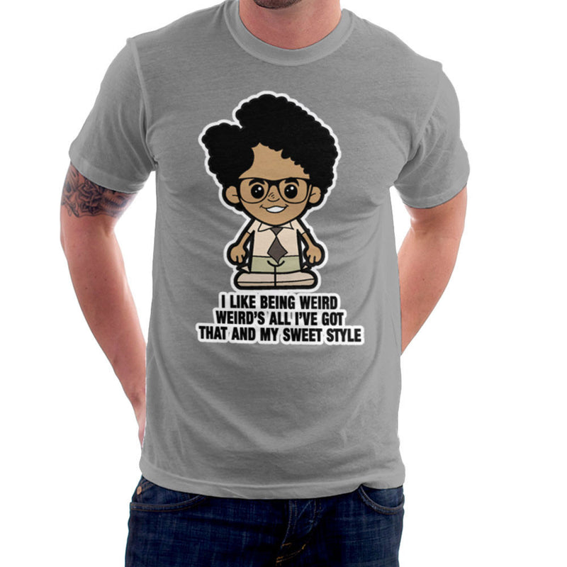 Lil Moss I Like Being Weird IT Crowd Men's T-Shirt by TopNotchy - Cloud City 7