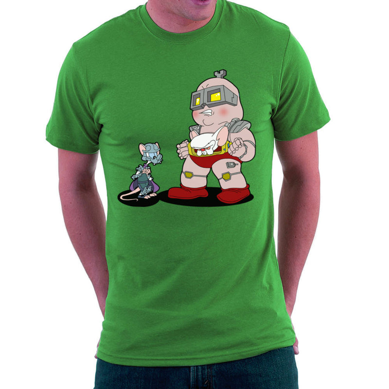 Pinky And The Brain Shredder And Kraang Teenage Mutant Ninja Turtles Men's T-Shirt by TopNotchy - Cloud City 7