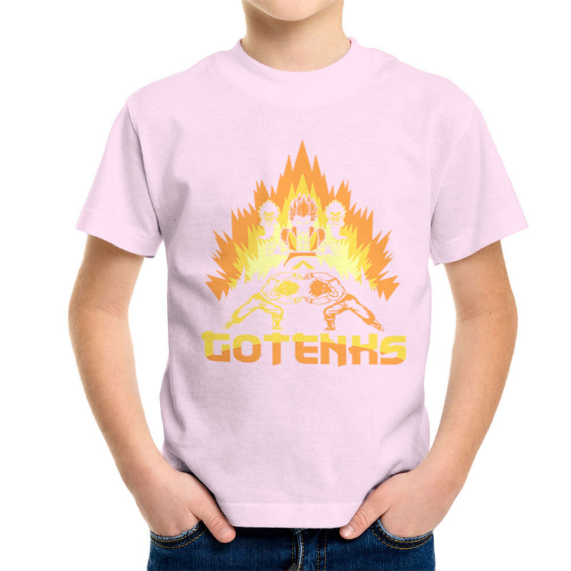 Dragon Ball Z Gotenks Super Saiyan Power Up Kid's T-Shirt by Kempo24 - Cloud City 7