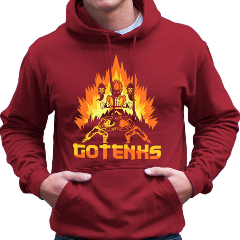 Dragon Ball Z Gotenks Super Saiyan Power Up Men's Hooded Sweatshirt by Kempo24 - Cloud City 7