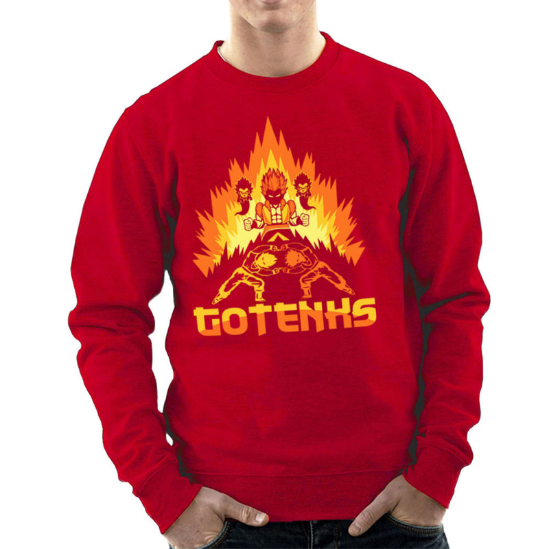 Dragon Ball Z Gotenks Super Saiyan Power Up Men's Sweatshirt by Kempo24 - Cloud City 7
