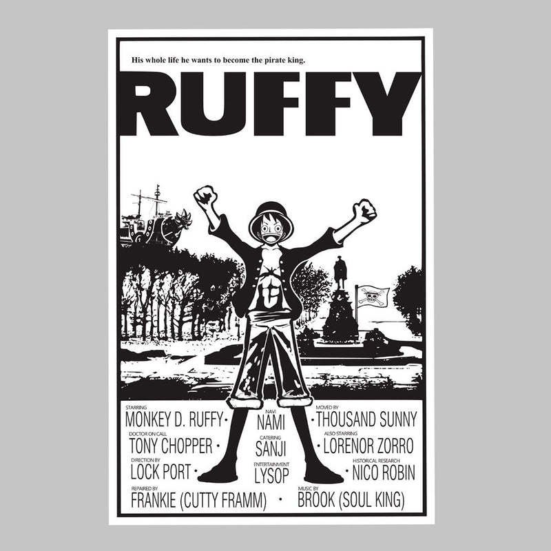 Ruffy Balboa One Piece Rocky Poster Monkey D Pirate King Women's T-Shirt by Kempo24 - Cloud City 7