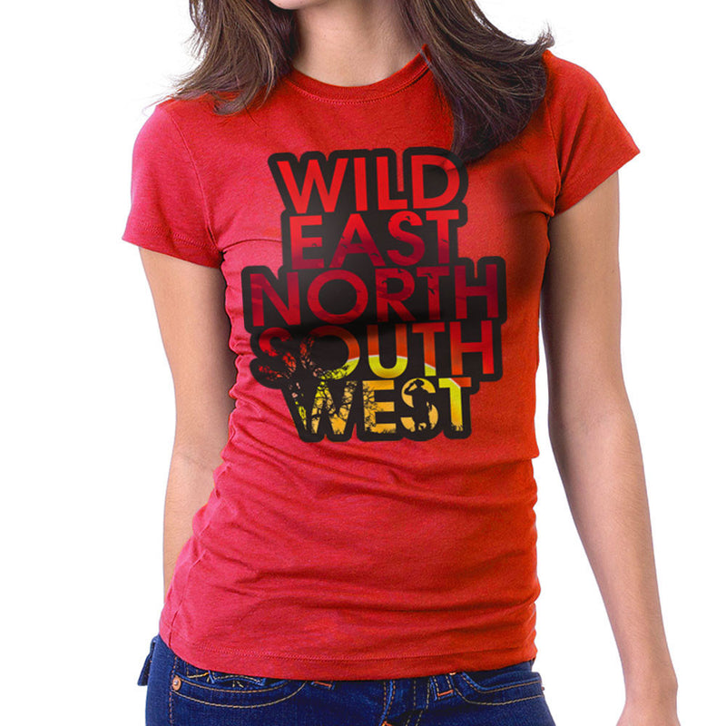Wild East North South West Women's T-Shirt by Kempo24 - Cloud City 7