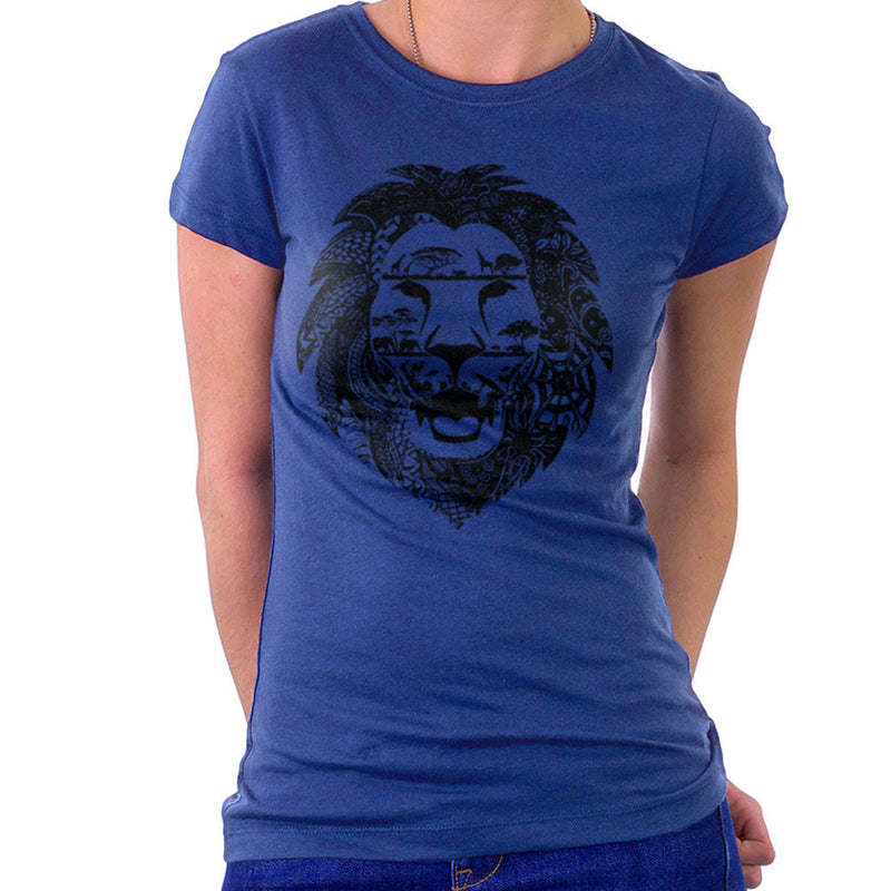 Zentangle Lion Women's T-Shirt by Kempo24 - Cloud City 7