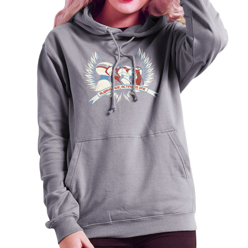 Always Five Acting As One Battle Of The Planets Science Ninja Team Gatchaman Women's Hooded Sweatshirt by Fanboy30 - Cloud City 7