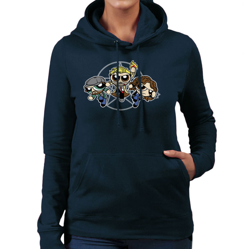 Power Blazers Hell Blazers Powerpuff Girls John Constantine Women's Hooded Sweatshirt by Fanboy30 - Cloud City 7
