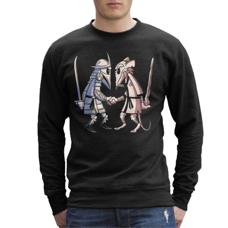 Sensei Vs Sensei Spy Vs Spy Shredder Vs Splinter TMNT Men's Sweatshirt by Fanboy30 - Cloud City 7