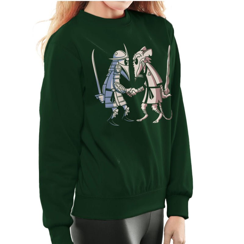 Sensei Vs Sensei Spy Vs Spy Shredder Vs Splinter TMNT Women's Sweatshirt by Fanboy30 - Cloud City 7