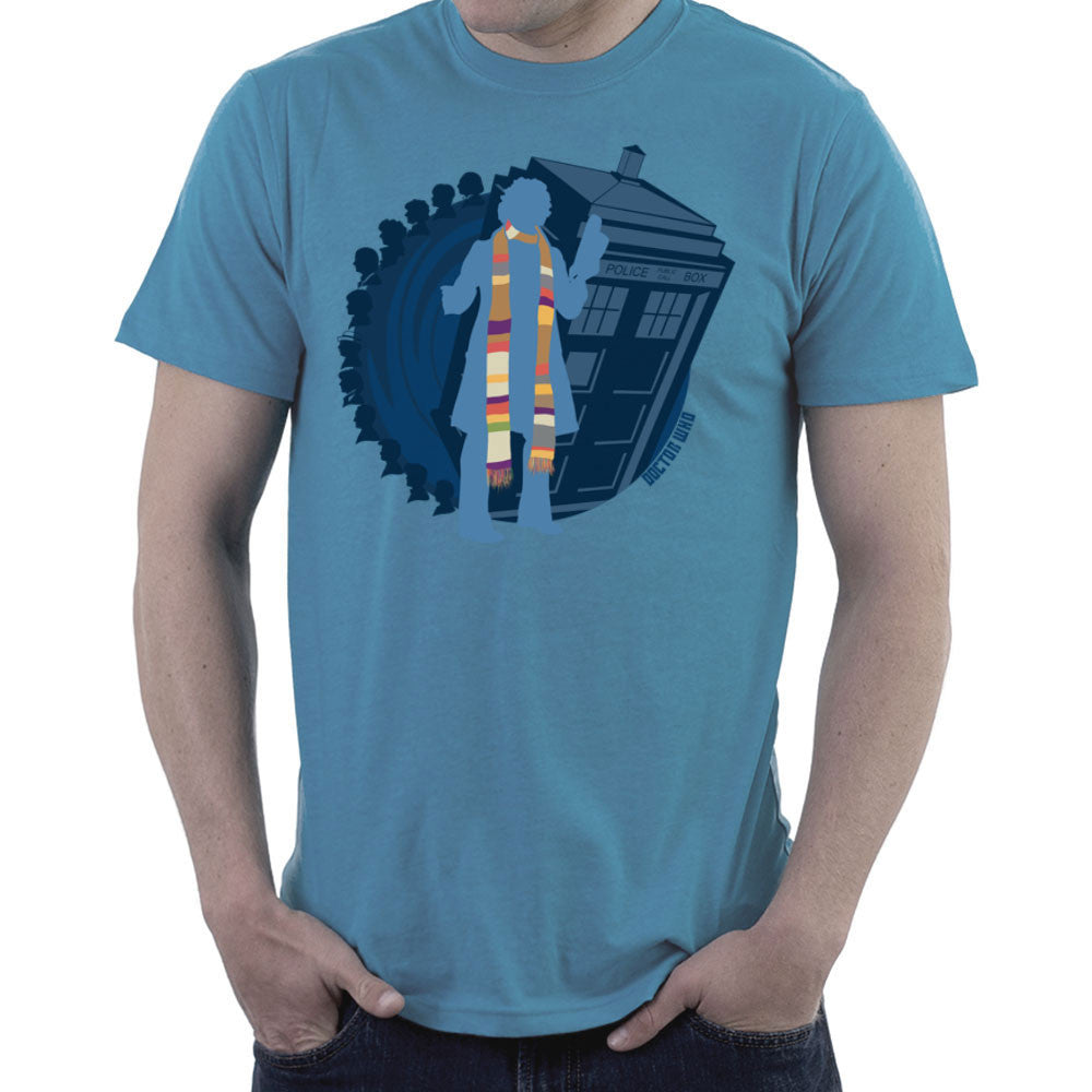 4th Doctor Who Silhouette Tom Baker Tardis design Cloud City 7 - 2