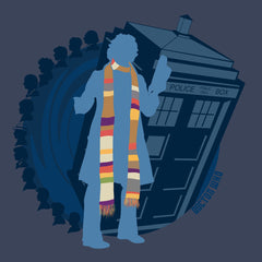 4th Doctor Who Silhouette Tom Baker Tardis design Cloud City 7 - 1