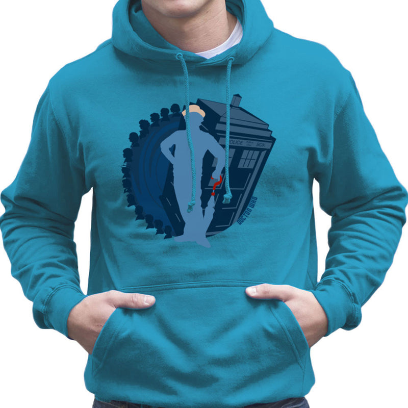 7th Doctor Who Silhouette Sylvester McCoy Tardis Men's Hooded Sweatshirt by DeMilburn - Cloud City 7