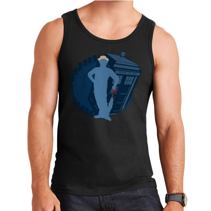 7th Doctor Who Silhouette Sylvester McCoy Tardis Men's Vest by DeMilburn - Cloud City 7