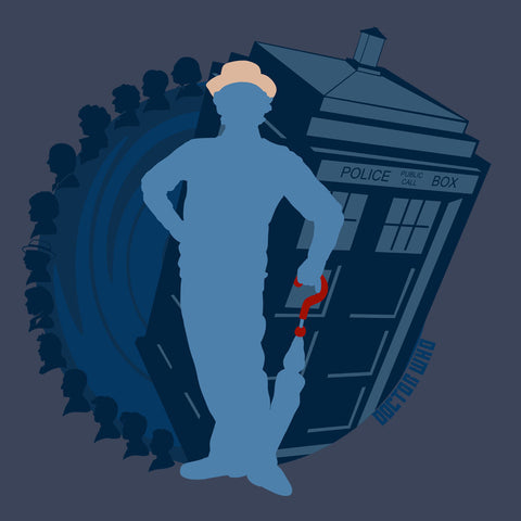7th Doctor Who Silhouette Sylvester McCoy Tardis
