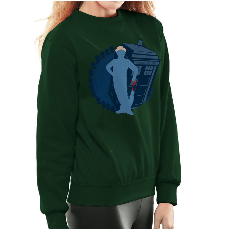 7th Doctor Who Silhouette Sylvester McCoy Tardis Women's Sweatshirt by DeMilburn - Cloud City 7