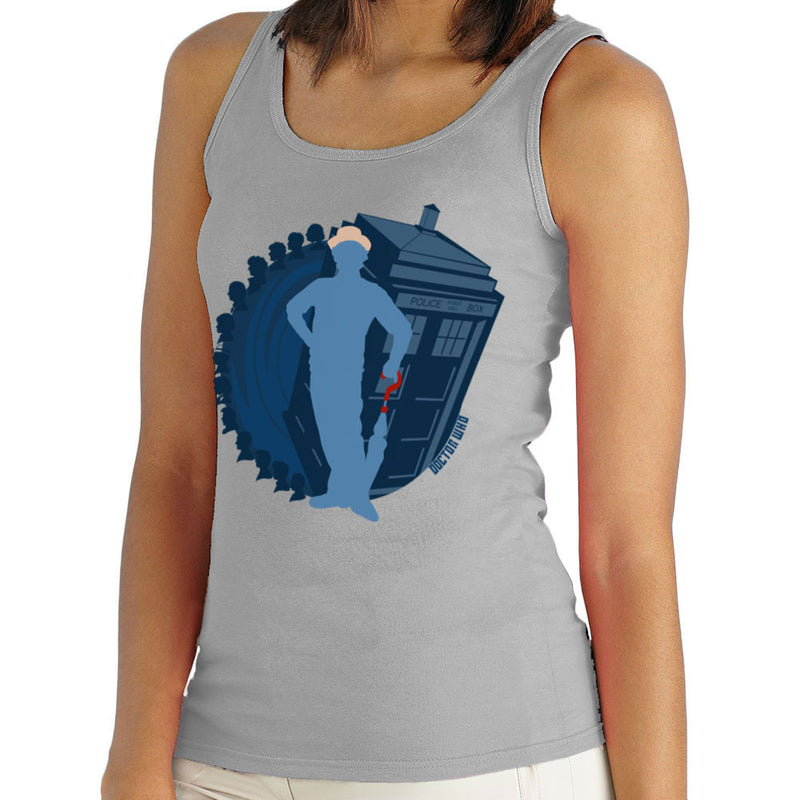 7th Doctor Who Silhouette Sylvester McCoy Tardis Women's Vest by DeMilburn - Cloud City 7