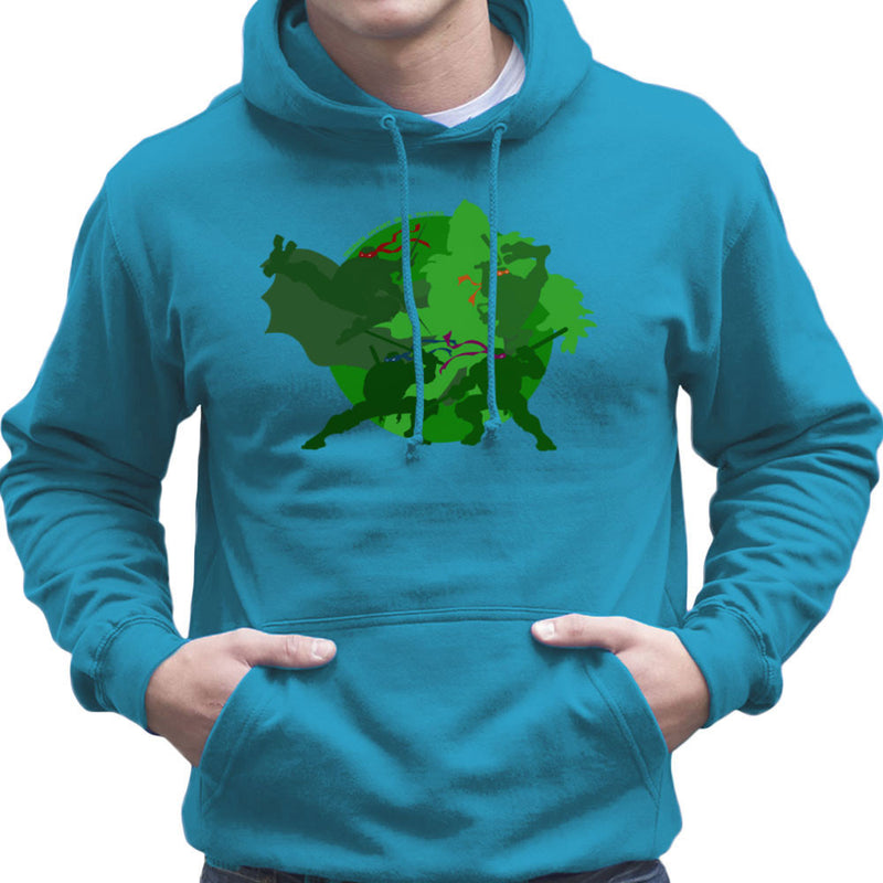 Teenage Mutant Ninja Turtles Silhouette Leo Donnie Raph Mickey Shredder Men's Hooded Sweatshirt by DeMilburn - Cloud City 7