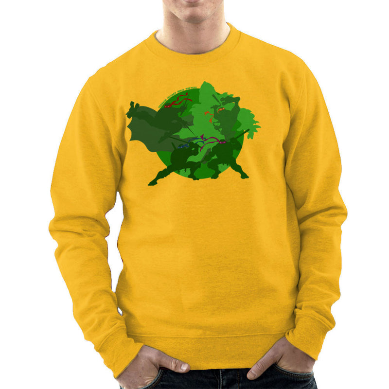 Teenage Mutant Ninja Turtles Silhouette Leo Donnie Raph Mickey Shredder Men's Sweatshirt by DeMilburn - Cloud City 7
