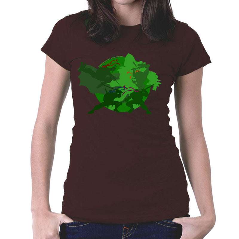 Teenage Mutant Ninja Turtles Silhouette Leo Donnie Raph Mickey Shredder Women's T-Shirt by DeMilburn - Cloud City 7