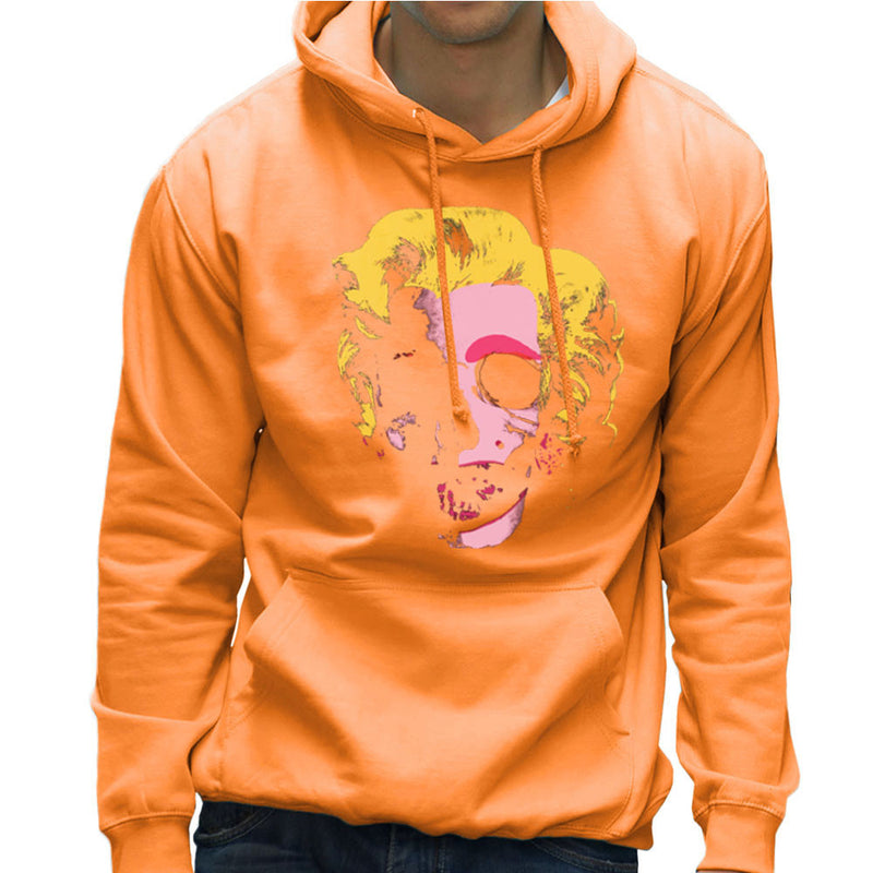 Marilyn Monroe Pop Art Skull Men's Hooded Sweatshirt by Alisterny - Cloud City 7