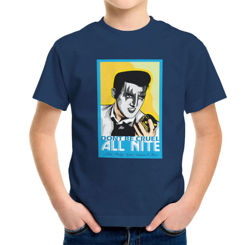 Elvis Simmons Gene Presley Rock And Roll Kiss Kid's T-Shirt by Goodmorningnight - Cloud City 7