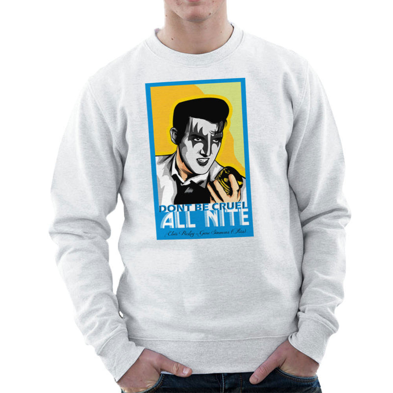 Elvis Simmons Gene Presley Rock And Roll Kiss Men's Sweatshirt by Goodmorningnight - Cloud City 7