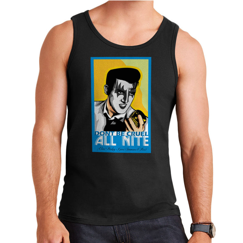 Elvis Simmons Gene Presley Rock And Roll Kiss Men's Vest by Goodmorningnight - Cloud City 7
