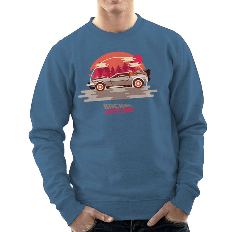 Back To The Future Delorean Forest Men's Sweatshirt by Goodmorningnight - Cloud City 7