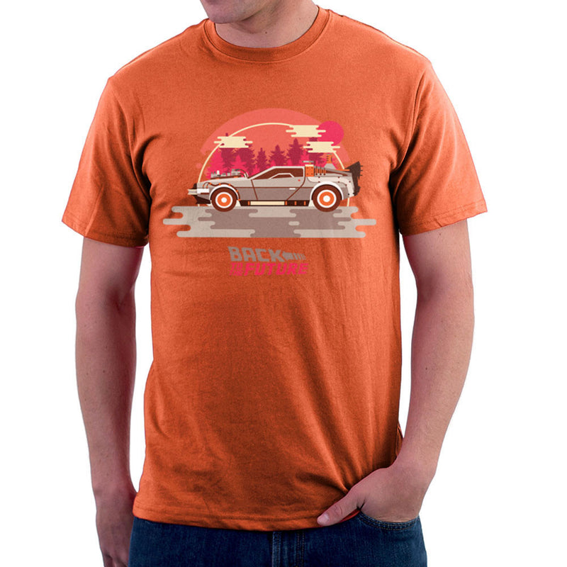 Back To The Future Delorean Forest Men's T-Shirt by Goodmorningnight - Cloud City 7
